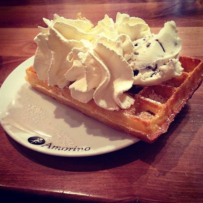 Amorino waffles