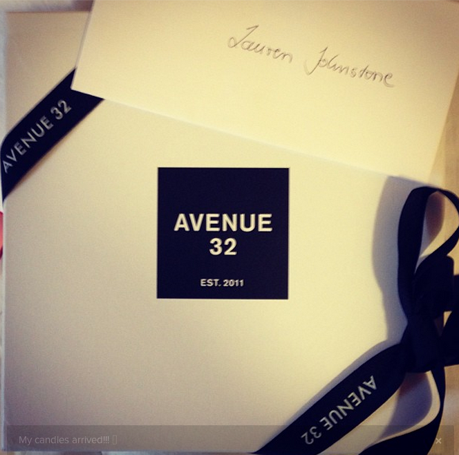 Prize candle from Avenue 32