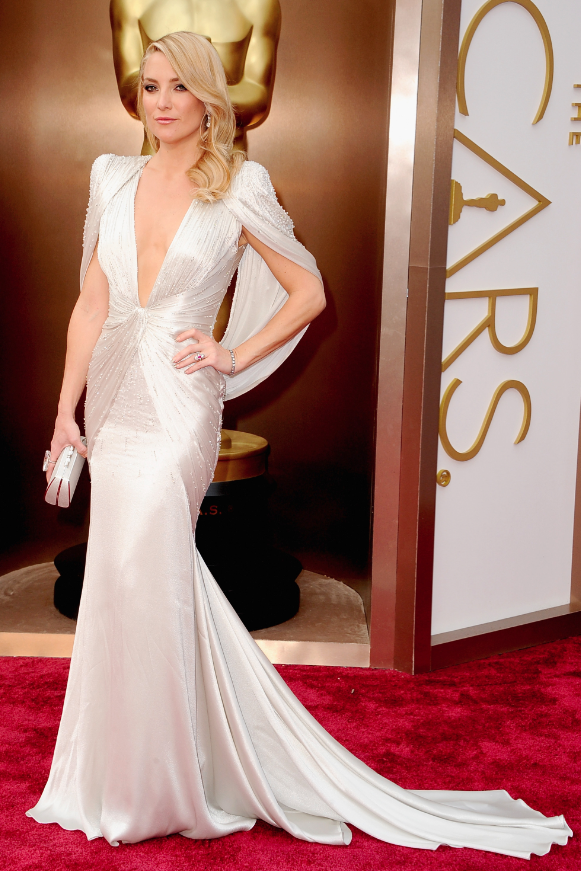 best dressed oscars 2014, kate hudson atelier versace oscar gown