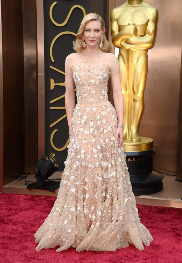 best dressed oscars 2014, cate blanchett armani prive couture oscars